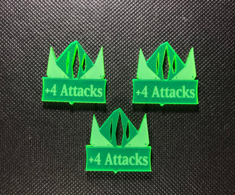 Steel Orcs +4 Attacks Addon Tokens (3 Pack)