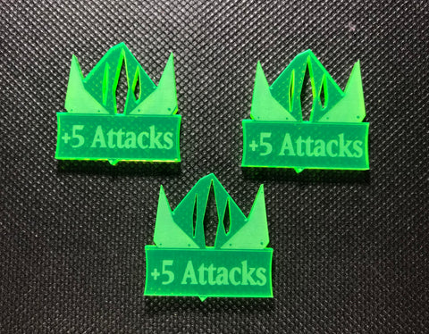 Steel Orcs +5 Attacks Addon Tokens (3 Pack)