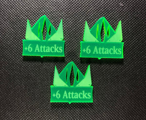 Steel Orcs +6 Attacks Addon Tokens (3 Pack)
