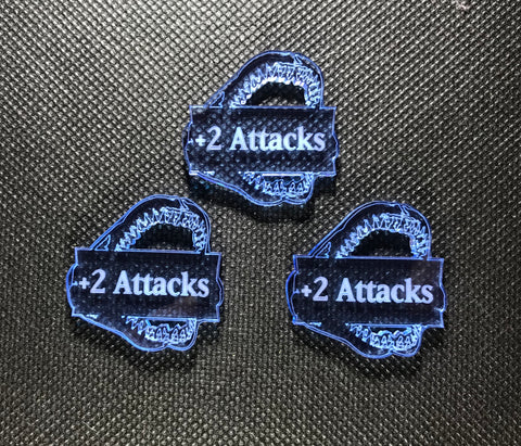 Deep Sea Elves +2 Attacks Addon Tokens (3 pack)