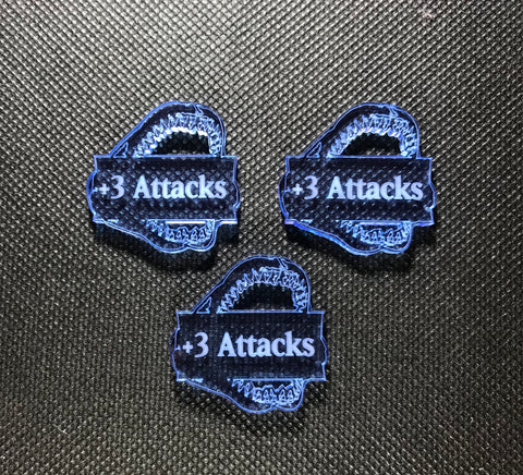 Deep Sea Elves +3 Attacks Addon Tokens (3 pack)