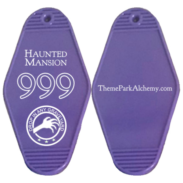 Vintage Haunted Mansion Room Key Tag