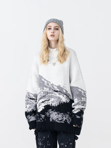 Mountain Negative Knit Turtleneck