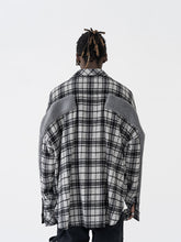 Load image into Gallery viewer, Plaid Woolen Stitched Shirt Jacket