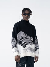 Load image into Gallery viewer, Mountain Negative Knit Turtleneck