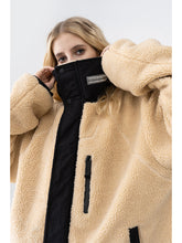 Load image into Gallery viewer, High Collar Logo Sherpa Jacket