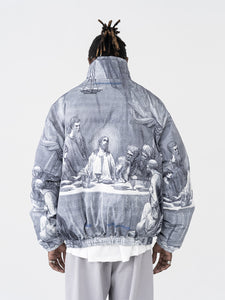 The Last Supper Down Full Print Jacket