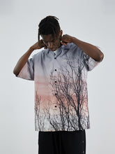 Load image into Gallery viewer, Forest Print Cuban Shirt