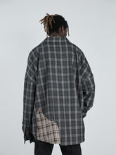 Load image into Gallery viewer, Destructive Plaid Stitched L/S Shirt
