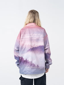 Forest Print Coach Jacket