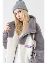 Load image into Gallery viewer, Futuristic Logo Sherpa Jacket