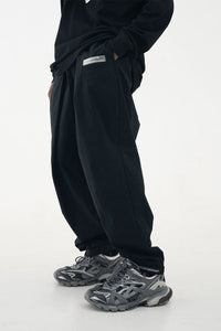 Pleated Logo Trousers