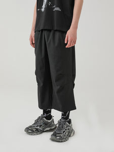 Pleated Loose Straight Trousers