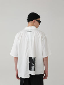 Hollow Asymmetrical Cuban Shirt