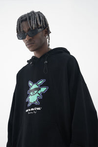 Pixel Embroidered Logo Hoodie