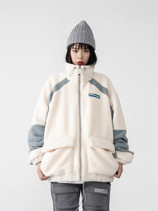 High Collar Sherpa Jacket