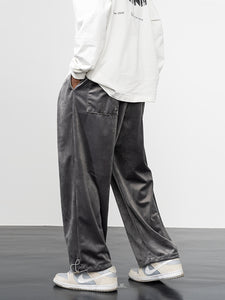 Basic Velvet Loose Trousers