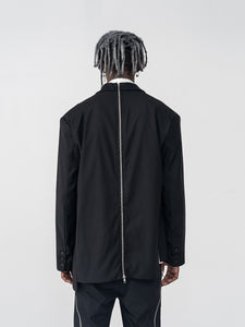 Asymmetrical Zipper Suit