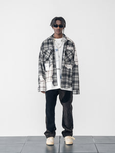 Deconstructed Plaid Flannel Shirt