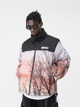 Load image into Gallery viewer, Forest Print Down Jacket