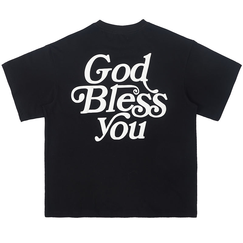 God Bless You Foam Print Tee