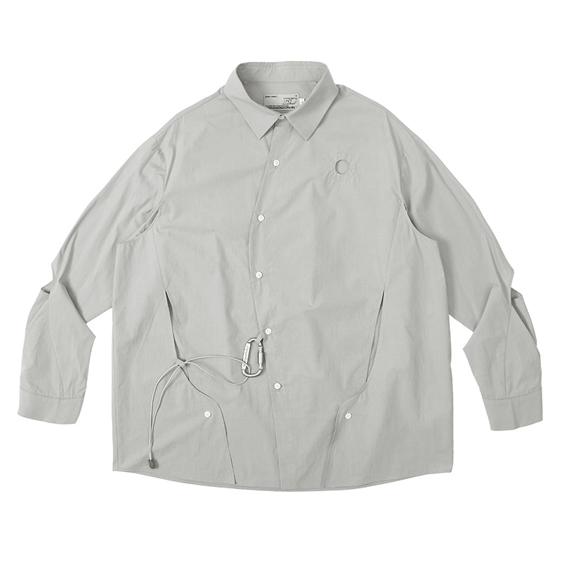 Asymmetrical Ripped L/S Shirt