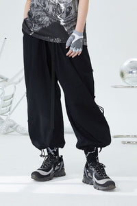 Adjustable Basic Loose Pants