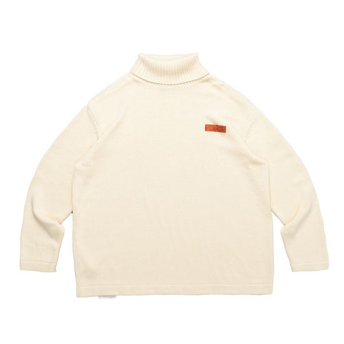 High Collar Logo Sweater