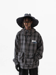 Plaid Logo Anorak