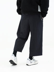 Adjustable Wide Logo Trousers