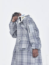Load image into Gallery viewer, Plaid Detachable Hooded Coat