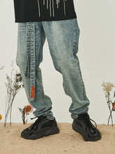 Load image into Gallery viewer, Washed Belt Straight Denim