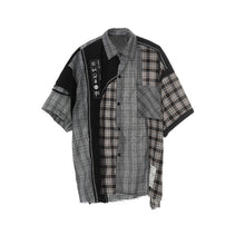 Load image into Gallery viewer, Irregular Plaid Shirt