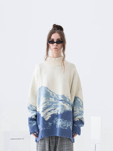 Snow Mountain Ripped Turtleneck