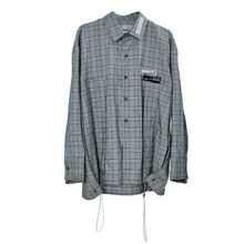 Load image into Gallery viewer, Plaid Irregular Long Sleeve Shirt