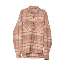 Load image into Gallery viewer, Plaid Wool Shirt Jacket