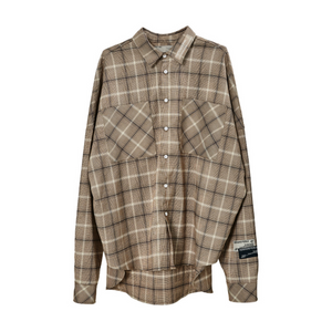 Vintage Plaid Long Sleeve Shirt