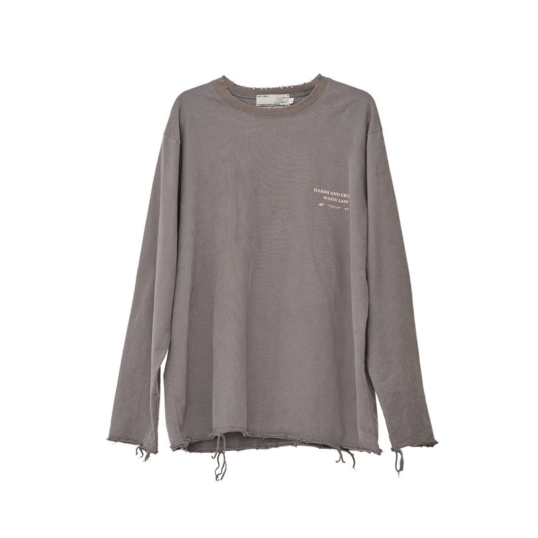 Irregular Waste Land Long Sleeve Tee