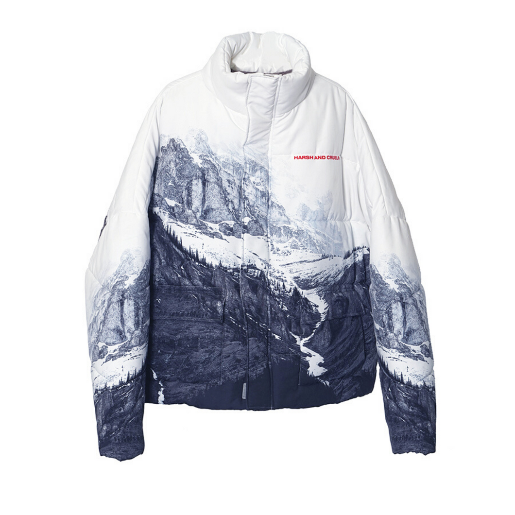 Mountain Printed Down Jacket