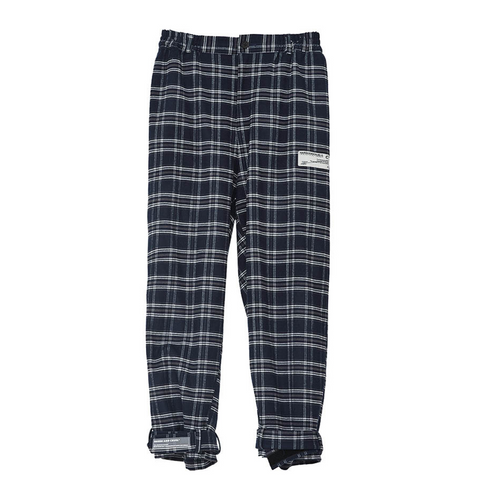 Retro Navy Checkered Trousers