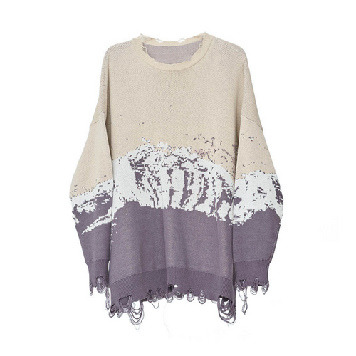 Snow Mountain Ripped Sweater