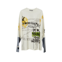 Load image into Gallery viewer, Graffiti Smiley Long Sleeve Tee