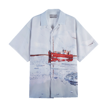Load image into Gallery viewer, Glacier Cruise Cuban Shirt