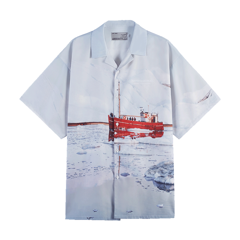 Glacier Cruise Cuban Shirt