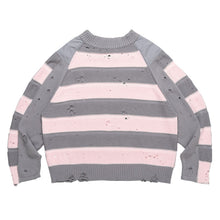 Load image into Gallery viewer, Striped Ripped Sweater