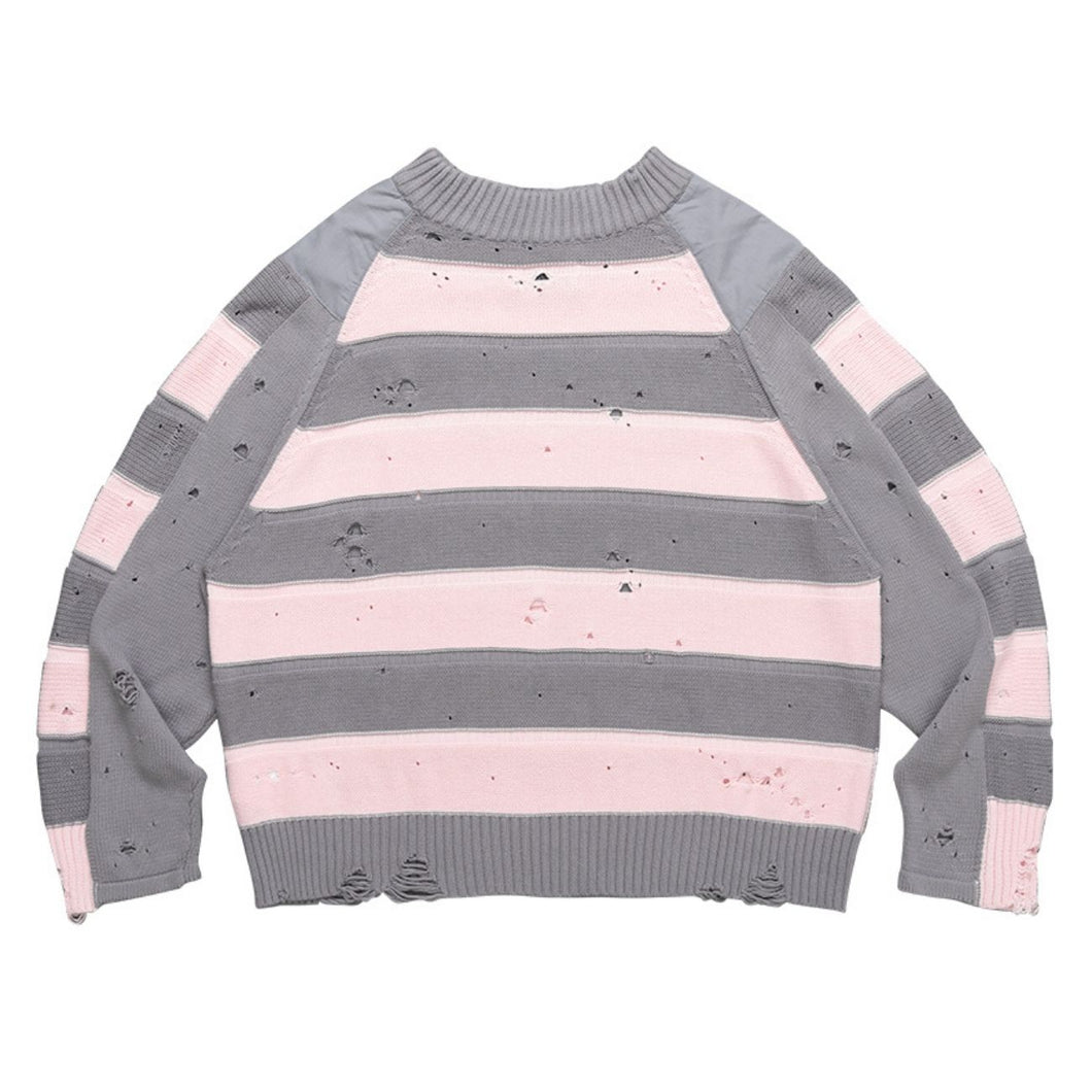 Striped Ripped Sweater