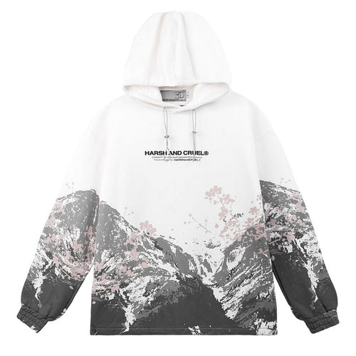 Mountain Flowers Printed Hoodie