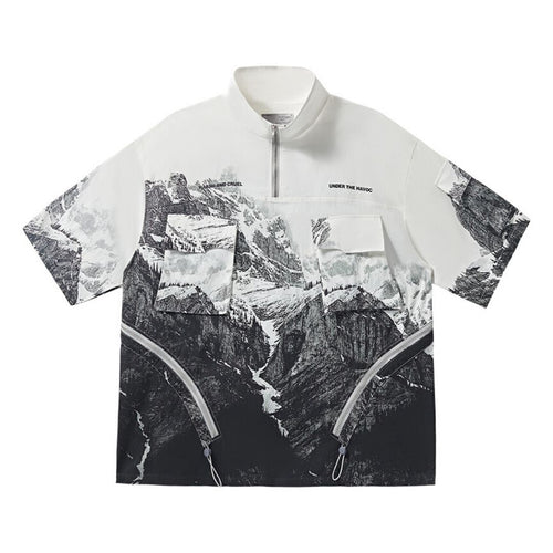 Mountain Short Sleeve Zipper Jacket
