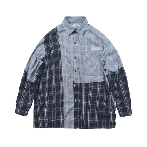 Asymmetrical Plaid Shirt