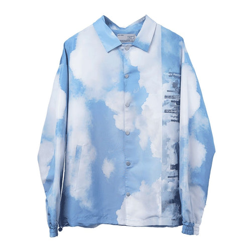 Clouds Printed Coach Jacket